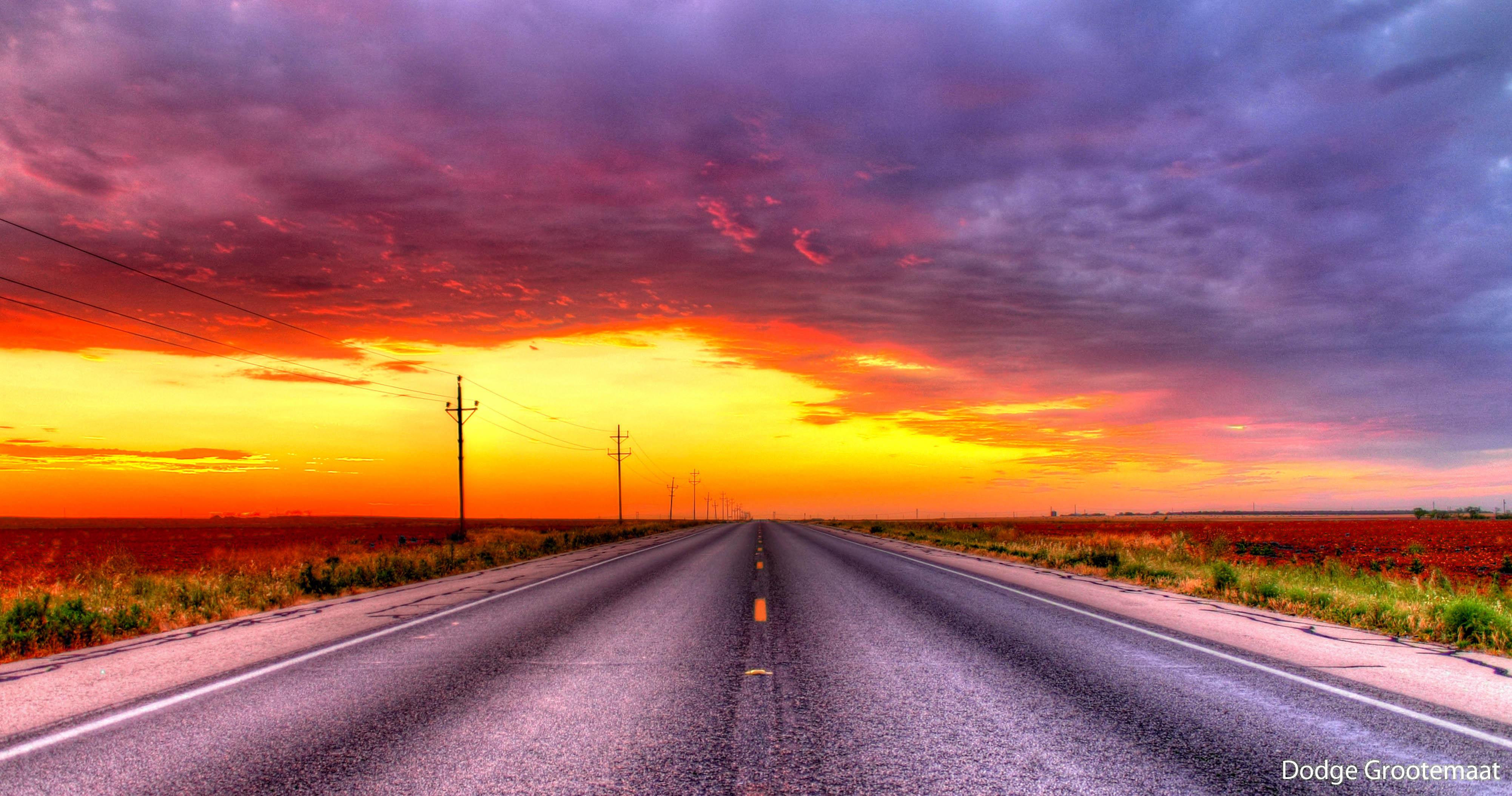 texas sky fading daylight